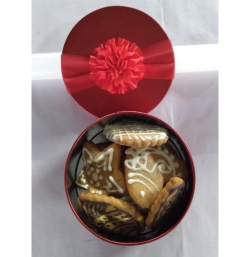 Ginger Bread Cookies (100 Gms)  ~ in a Gift Tin Box
