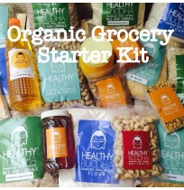 Organic Grocery Starter Kit - 500g Atta, 500g Toor Dal, 1 Sunflower Oil,  500g Sona Masoori White Rice, 500g Jaggery Powder