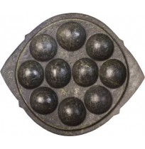 Soapstone Cookware - Kuzhi Paniyarakal (10 Holes, Pre Seasoned)
