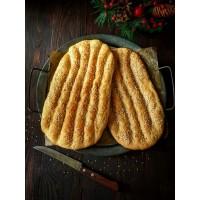 Barbari Flatbread (Garlic Naan Bread)  - Set of 2 (Eggless)