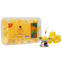 Easy Diya Box (30 pcs + 2 Steel Diyas, Pure Cow Ghee)