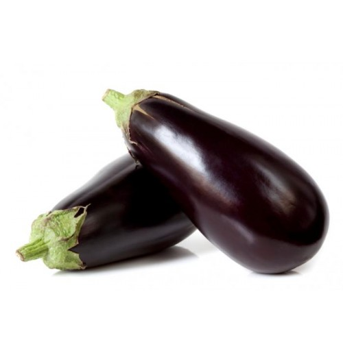 Organic Big Brinjal (Brown Shades/Less Shiny)