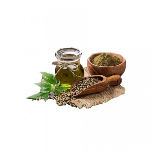 Hemp Seed Oil (Cold Pressed, Glass bottle)