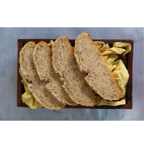 Seeded Sourdough Baguette (300 Gms) (Eggless)